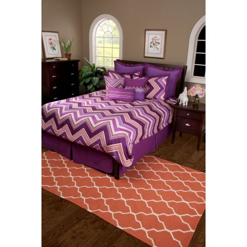 Rizzy Home Hippie Chic Plum Comforter Bed Set