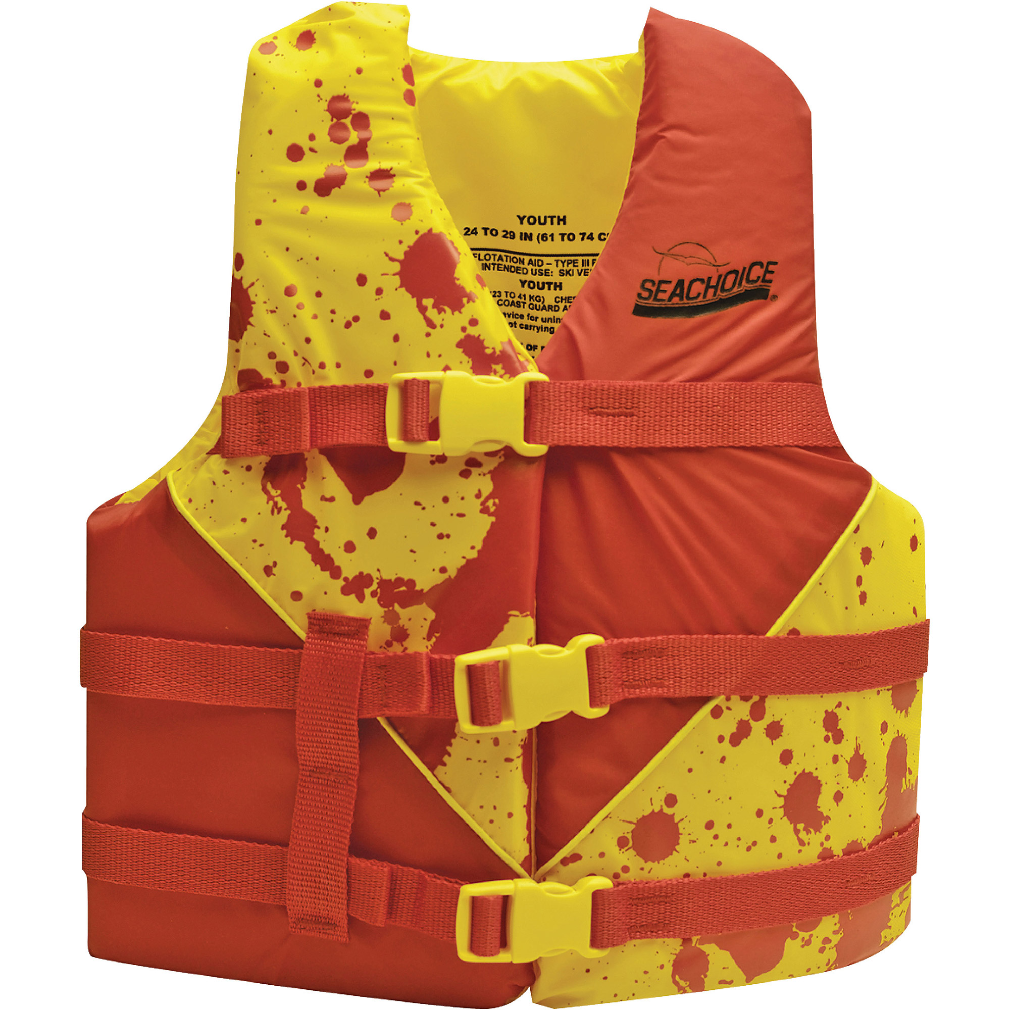 Seachoice Deluxe Type III Red/Yellow Life Vest