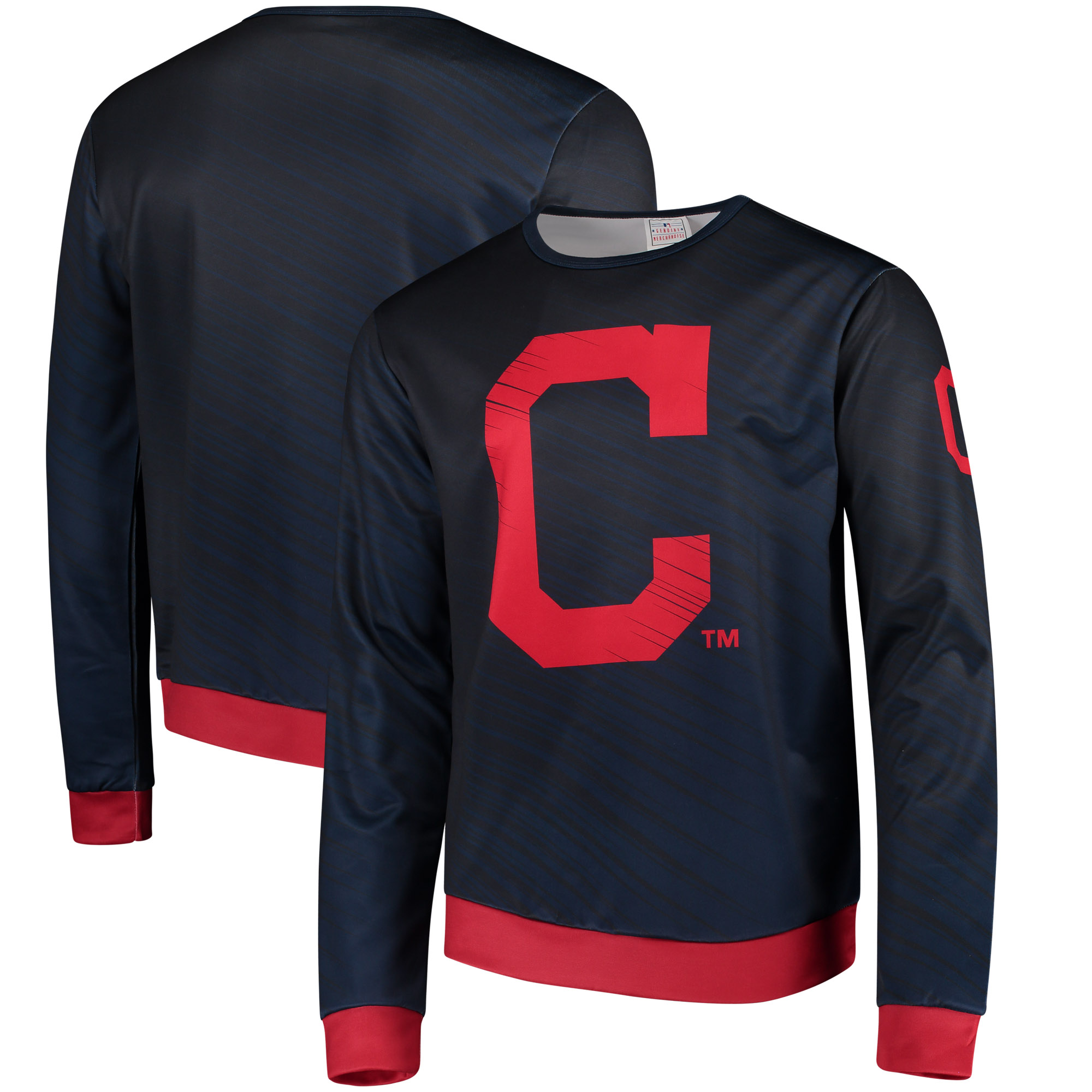 Cleveland Indians Static Rain Pullover Sweater - Navy