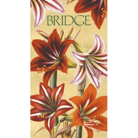 Entertaining with Caspari Bridge Score Pad, Amaryllis - image 1 of 1