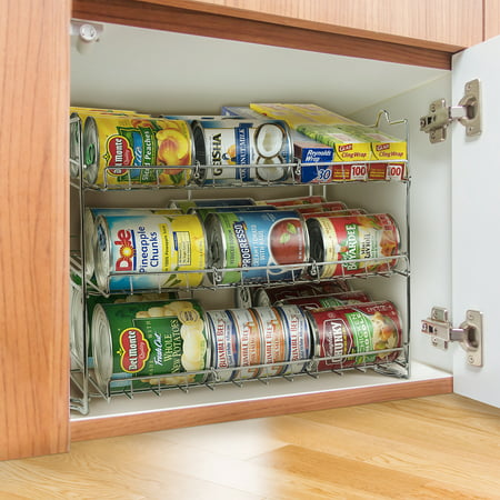 Sorbus Can Organizer Rack 3 Tier Stackable Can Tracker Pantry Cabinet Organizer Holds Up To 36 Cans Great Storage For Canned Foods Drinks And