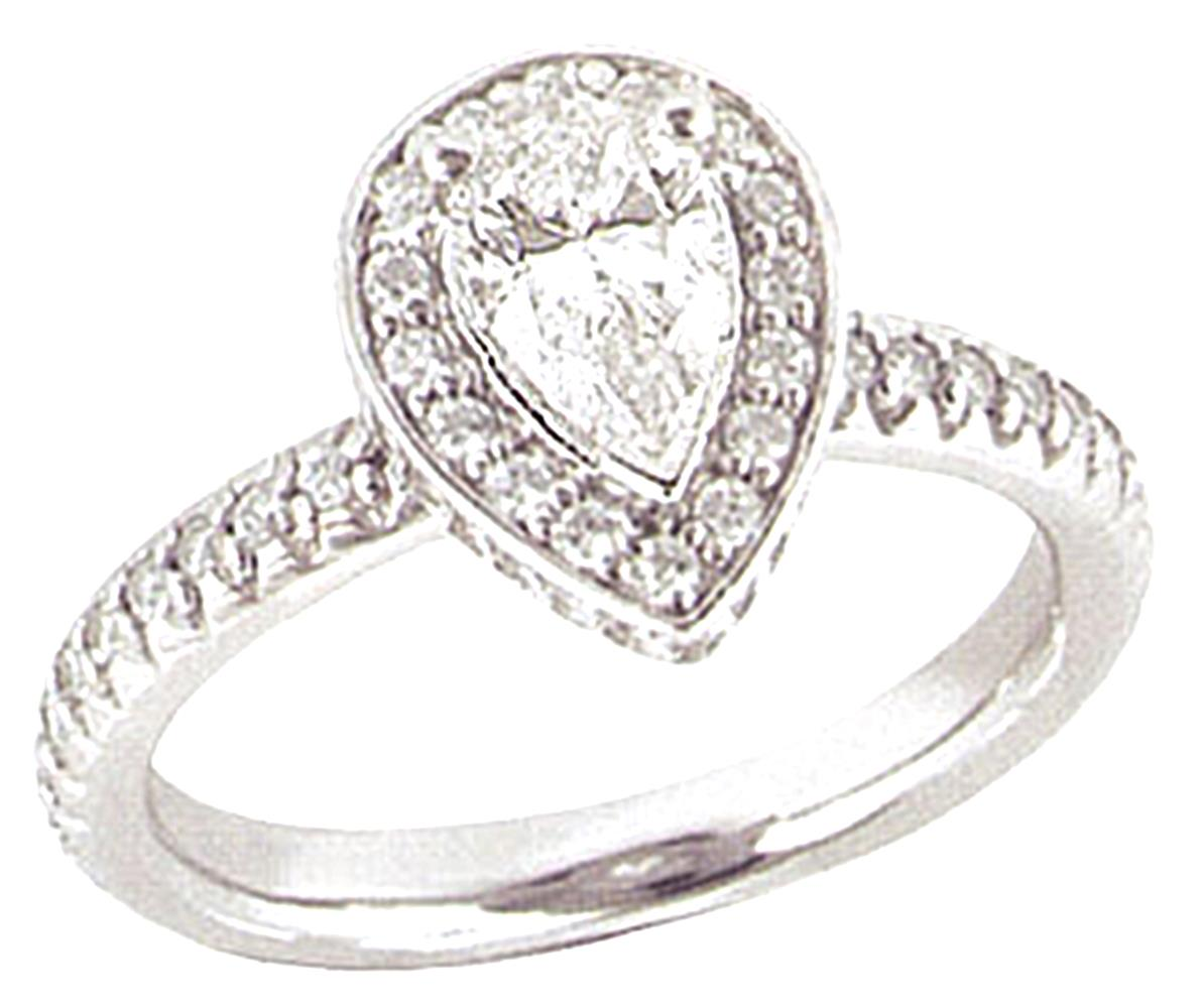 2.01 carats PLATINUM DIAMOND RING engagement pear shape size 10 by