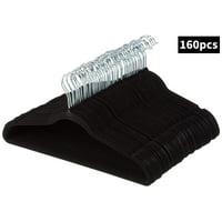 20~200PCS Velvet Clothes Suit/ Shirt/ Pants Hangers Hook Non Slip Storage Organize, Clothes Hanger Racks
