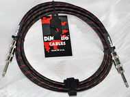 DiMarzio 15' Overbraid Instrument Cable, Black & Red by