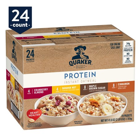 Quaker Instant Oatmeal, Protein Variety Pack, 24