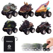 Pull Back Dinosaur Cars, Dino Cars Toys with Big Tire Wheel for 3-14 Year Old Boys Girls Creative Gifts for Kids (6 Pack)