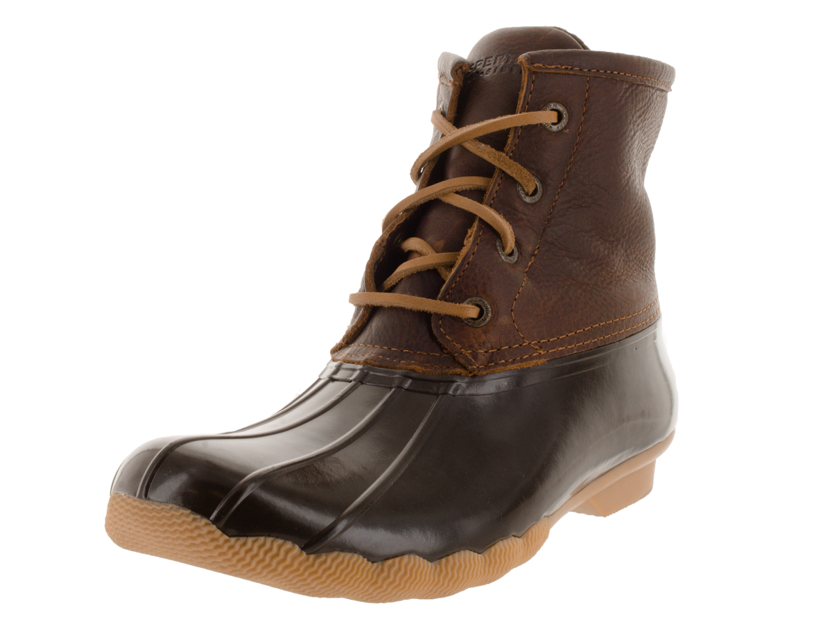 Sperry STS91176-070 Women's Saltwater Duck Boots, Tan Dark Brown, 7 M US by SPERRY