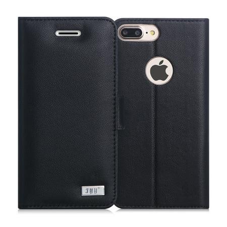 iPhone 8 Plus Case, iPhone 7 Plus Case FYY Premium Genuine Leather Wallet Case for Apple iPhone 7 Plus/8 Plus