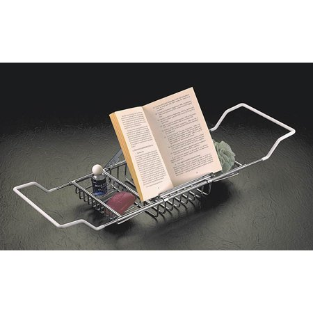 Bathtub Caddy w Reading Rack (Chrome) - Walmart.com