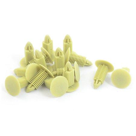 Plastic Buckle Ceiling Trim Rivets Fastener Clips Khaki 15 (Buckle Khaki)