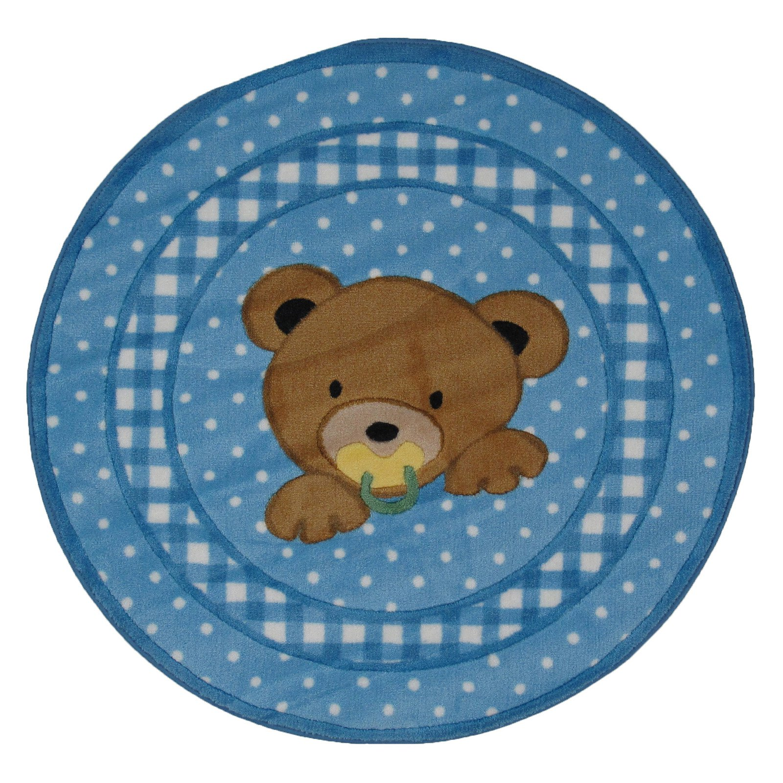"Fun Rugs Teddy Center Blue 39"" Round Rug"