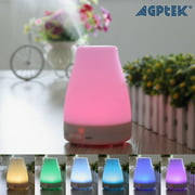 HK Oil Aromatherapy Diffuser Portable Ultrasonic Humidifier with 7 Color Changing LED Waterless Auto Shut-off