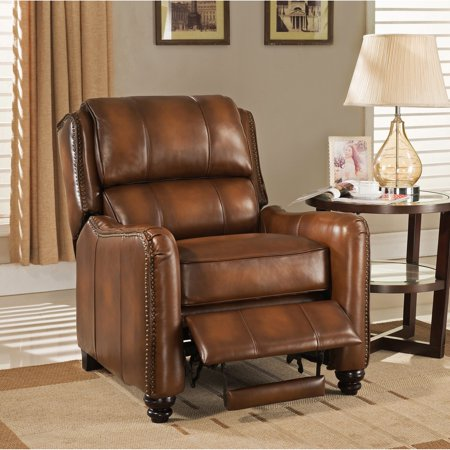 Premium Brown Leather (Sofaweb.com Lowry Vintage Brown Premium Top Grain Leather Recliner Chair)