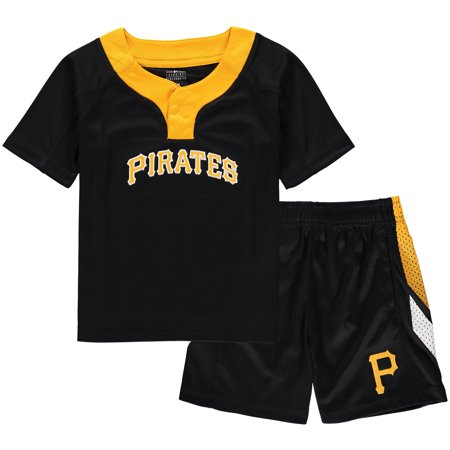 Pittsburgh Pirates Toddler Ground Rules T-Shirt & Shorts Set - - Pirate Outfits