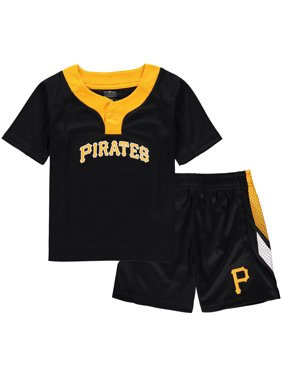 74a9b379 Product Image Pittsburgh Pirates Toddler Ground Rules T-Shirt & Shorts Set  - Black/Gold. Outerstuff