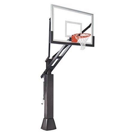 Full Court In-ground Adjustable Basketball Goal Hoop with ...