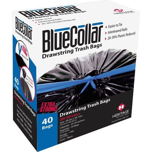 Hirsh Industries BlueCollar 30 Gal. Trash Bags, 40 Count