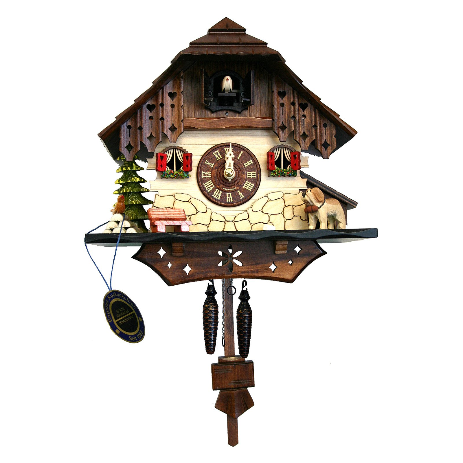 Black Forest 6-Inch High Cuckoo Clock by Alexander Taron Importer