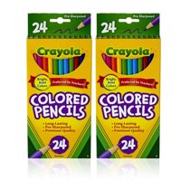 Crayola Classic Colored Pencils, School Supplies, 24 Count - 2 Pack
