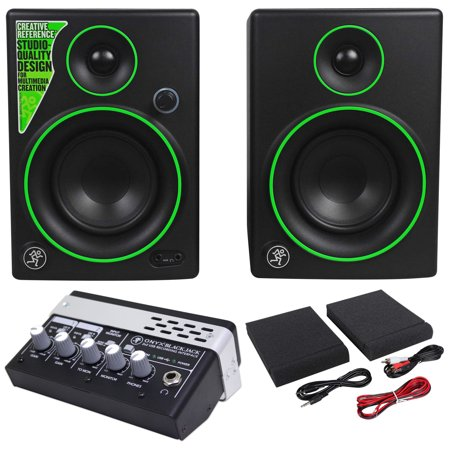 Pair New Mackie Cr4 4  Creative Reference Monitors Speakers Recording Interface