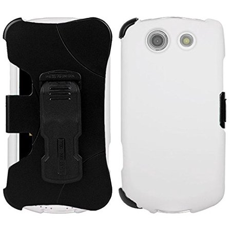new concept 593f4 fe33f WHITE CASE + BELT CLIP HOLSTER SCREEN SAVER FOR VERIZON KYOCERA BRIGADIER  E6782, Protective Case + Custom Holster Clip By Beyond Cell