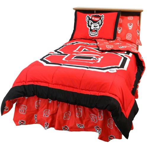 North Carolina State Wolfpack 2 Pc Comforter Set, 1 Comforter, 1 Sham, Twin