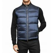 Calvin Klein NEW Blue Navy Blazer Mens Size Large L Puffer Vest Jacket