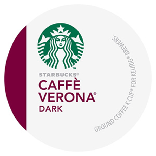Starbucks Coffee Caffe Verona Dark K-Cups - 96 Pack