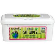 Earthbath Green Tea Cat Wipes, 100 wipes
