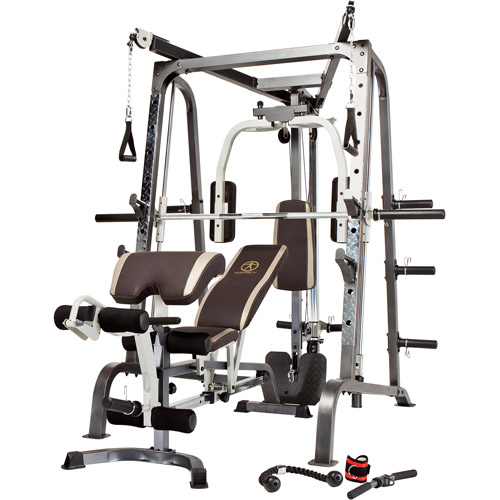 Marcy Diamond Home Gym Smith Cage with Linear Bearings Ho...