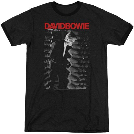 David Bowie Station To Station Adult Ringer T-Shirt Black Medium
