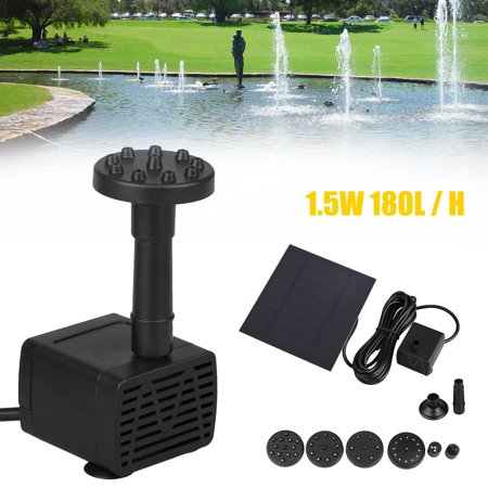 Freestanding Water - 200L/H Solar Bird Bath Fountain, Solar Powered Fountain 1.2W Free Standing Floating Birdbath Water Pumps for Garden and Patio,Pond, Pool