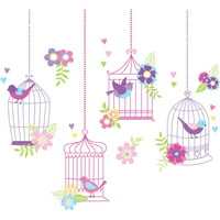 WallPops Chirping The Day Away Wall Art Stickers