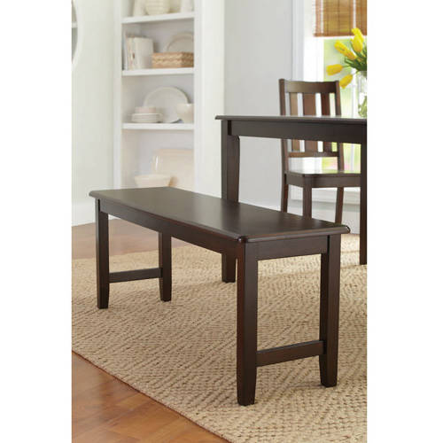 Better Homes and Gardens Bankston Dining Bench, Mocha