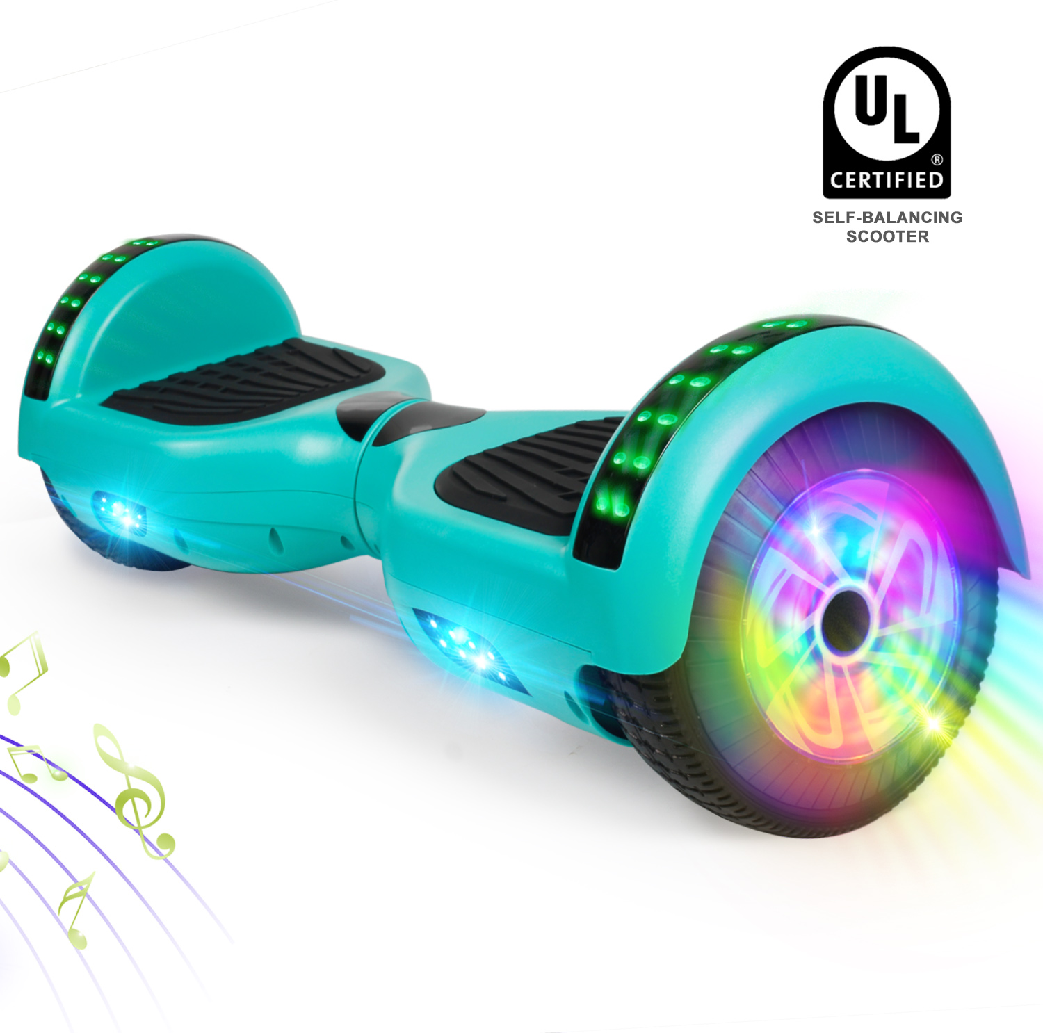 """6.5/"""" LED Hoverboard Electric Self Balancing Bluetooth Scooter UL 2272 No Bag"""