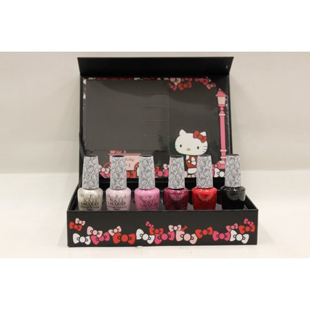 OPI- Nail Lacquers- Hello Kitty Collector's Edition- 6 Nail Lacquers .5oz each - Hello Kitty Halloween Nail Designs