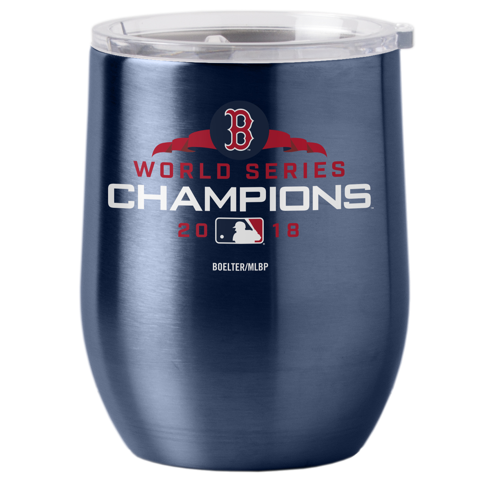 Boston Red Sox 2018 World Series Champions 16oz. Curved Ultra Tumbler - Navy - No Size