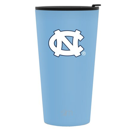 Simple Modern 16oz Pint Tumbler - North Carolina Tar Heels Vacuum Insulated 18/8 Stainless Steel Tailgating Cup Travel Mug - North Carolina - North Carolina Stainless Travel Mug