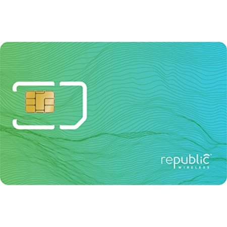 republic wireless bring your own phone sim card kit with 3-in-1 sim for prepaid  no contract cell phone service  plans start at $15 per month  add 4g lte data for $5 per