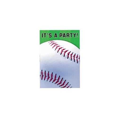 Amscan 235612 Baseball Invitations