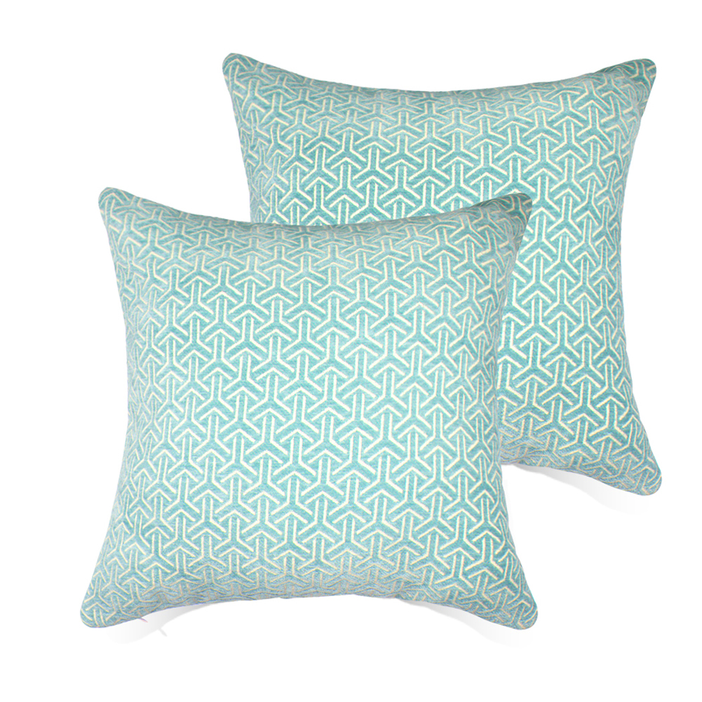 Set of 2 Throw Pillow Covers Coastal Cushions 100% Cotton Home Decorative 20 x 20 inch Soft Pillow Case Covers Invisible Zipper Decorative Pillow Case No Pillow Insert Furniture Cushions