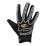 Northwave, Skeleton, Long fingered gloves, Black/White, XL