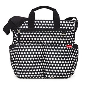 Skip Hop Duo Signature Carry All Travel Diaper Bag Tote with Multipockets, One Size, Connected Dot