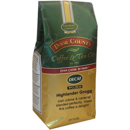 Door County Coffee Decaf Highlander Grogg 10oz Whole Bean Specialty Coffee