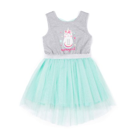 Caticorn Sparkle Tulle Dress (Little Girls) - Little Girl Dresses