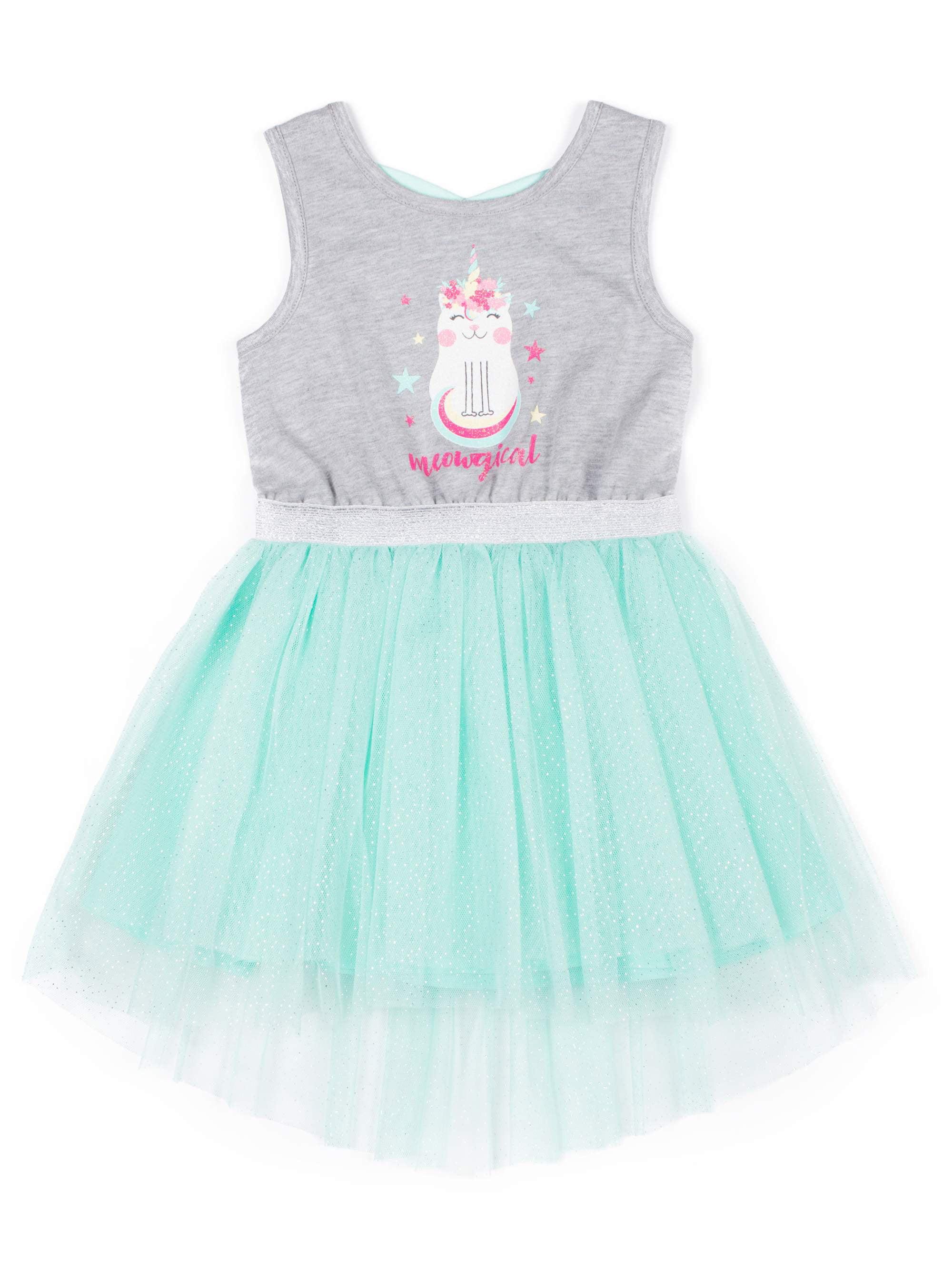 Caticorn Sparkle Tulle Dress (Little Girls)