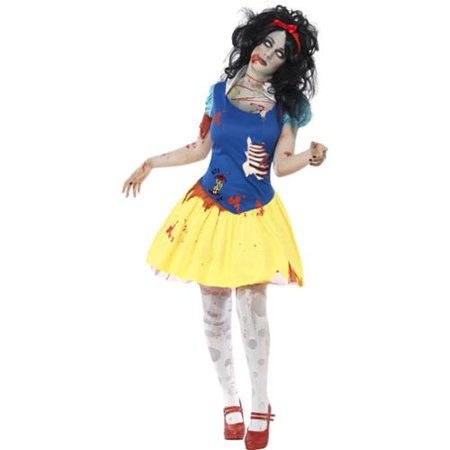 Zombie Snow White Fright Adult - Zombie Dress Halloween