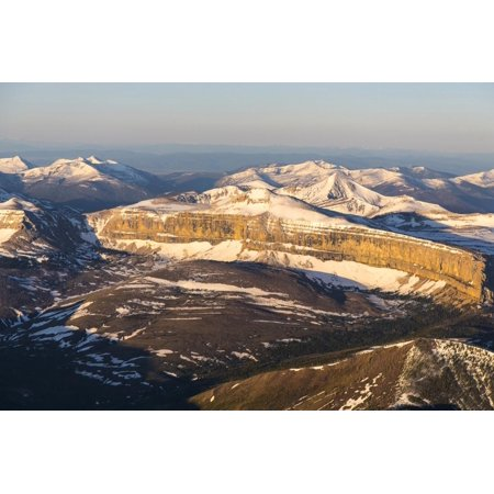 Aerial of the Rocky Mountains in the Bob Marshall Wilderness of Montana, USA Print Wall Art By Chuck (Used Bob Marshall Treeless Saddle For Sale)