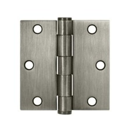 Deltana S35HD 3-1/2 x 3-1/2 Ball Bearing Square Corner Full Mortise Hinge - Pair Bearing Square Deltana Hinge