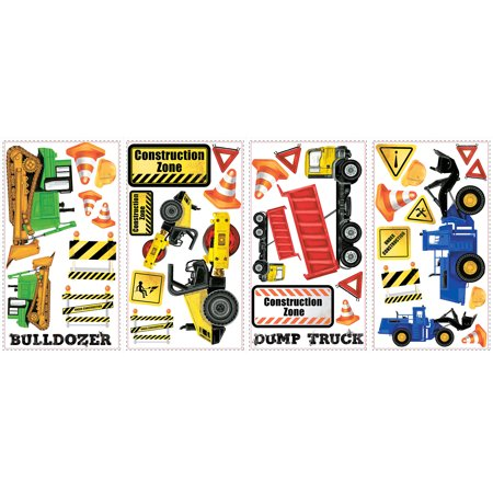 - Construction Trucks Peel-and-Stick Wall Decals